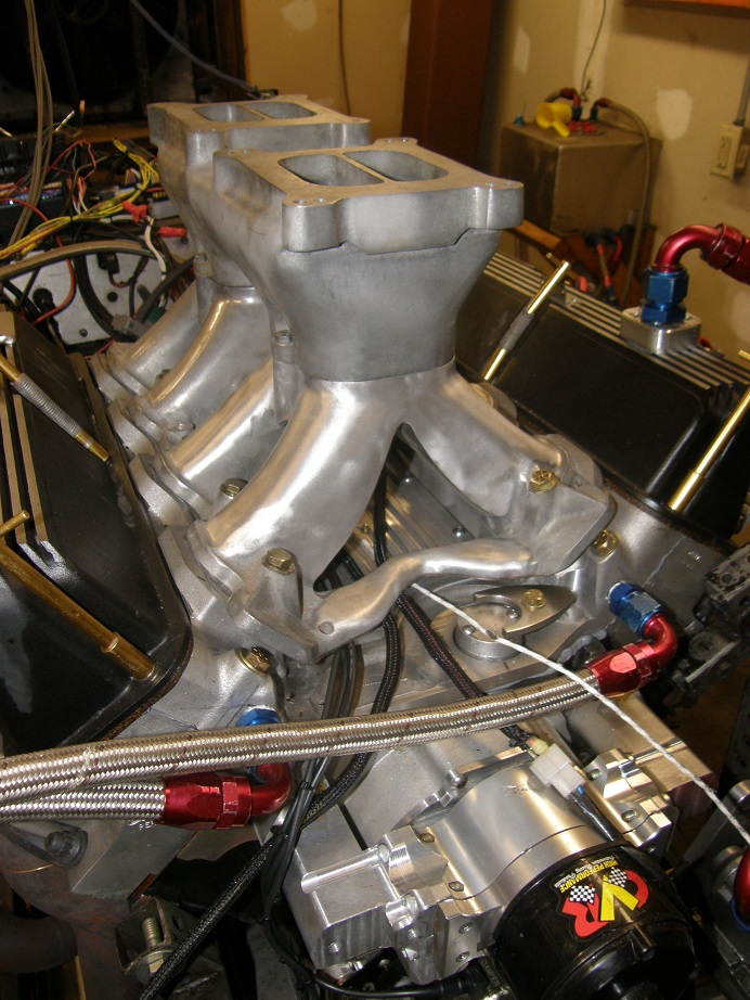 Dyno Mule to Test 351C Intakes on the Intake Adapter, Carb and EFI